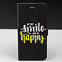 PROMOTIE Accesorii GSM: Toc FlipCover Stand Magnet Design Just Smile And Be Happy HTC 10