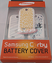 Accesorii GSM - Diverse: Set capac baterie Samsung S3650 Corby Minimal