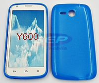 Accesorii GSM - Toc Jelly Case: Toc Jelly Case Huawei Y600 BLUE