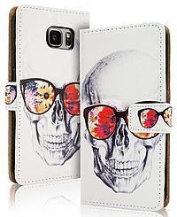 Accesorii GSM - Toc FlipCover Fancy: Toc FlipCover Fancy Apple iPhone 6 / 6s SKULL