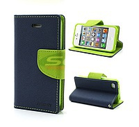 Accesorii GSM - Toc FlipCover Fancy: Toc FlipCover Fancy G850F Samsung Galaxy Alpha NAVY-LIME