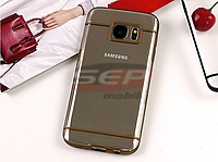 Accesorii GSM - Toc Back Case Lines: Toc Back Case Lines Samsung Galaxy S7 Edge BROWN
