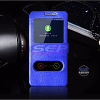 Accesorii GSM - Toc FlipCover EasyView: Toc FlipCover Double EasyView Huawei Honor 7i / Shot X BLUE