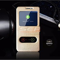 Accesorii GSM - Toc FlipCover EasyView: Toc FlipCover Double EasyView Huawei Honor 7i / Shot X GOLD