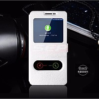 Accesorii GSM - Toc FlipCover EasyView: Toc FlipCover Double EasyView Huawei Honor 7i / Shot X WHITE