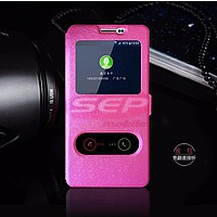 Accesorii GSM - Toc FlipCover EasyView: Toc FlipCover Double EasyView Leather Huawei Ascend Y600 PINK