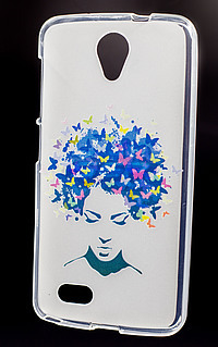 Accesorii GSM - Toc Back Case Design: Toc Back Case Design Butterfly Girl Allview P5 eMagic