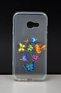 Accesorii GSM - Toc Back Case Design: Toc Back Case Design Colour Butterflies ZTE Axon 7
