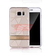 Accesorii GSM - Motomo 3D Stones: Toc Motomo 3D Stones Apple iPhone 8 Plus LIGHT GOLD