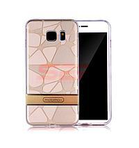 Accesorii GSM - Motomo: Toc Motomo 3D Stones Apple iPhone 7 Plus GOLD