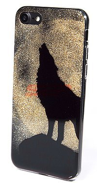 Accesorii GSM - Tocuri HARD CASE: Toc Black Glitter Apple iPhone X / XS WOLF