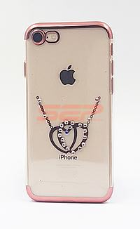 Accesorii GSM - Toc TPU Diamonds: Toc TPU Diamonds Apple iPhone 8 Plus HEARTS