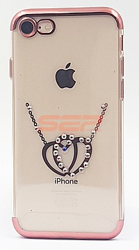 Accesorii GSM - Toc TPU Diamonds: Toc TPU Diamonds Apple iPhone 8 HEARTS