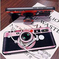 Accesorii GSM - Toc Vintage Camera: Toc Vintage Camera Apple iPhone X Pink