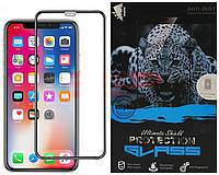 Accesorii GSM - Folie protectie display sticla 6D: Geam protectie display sticla 6D FULL GLUE Apple iPhone XS Max BLACK