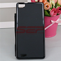 Accesorii GSM - Toc Back Case: Toc plastic siliconat Alcatel One Touch X Pop / OT-5035 NEGRU