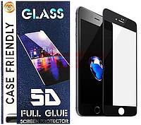 Accesorii GSM - Folie protectie display sticla 5D: Geam protectie display sticla 5D FULL COVER Apple iPhone 8 Plus BLACK