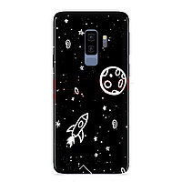 Accesorii GSM - Black & White Collection: Toc TPU Matte Design Space Huawei P8 Lite (2017) / P9 Lite (2017)