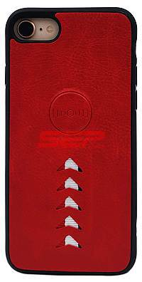 Accesorii GSM - Toc TPU Leather Arrow: Toc TPU Leather Arrow Apple iPhone X / XS Red