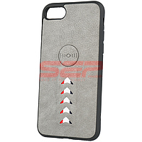 Accesorii GSM - Leather Back Cover: Toc TPU Leather Arrow Apple iPhone 8 Grey