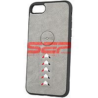 Accesorii GSM - Leather Back Cover: Toc TPU Leather Arrow Apple iPhone SE 2020 Grey