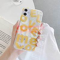Accesorii GSM - Toc TPU IMD: Toc TPU IMD LOVE Letters Apple iPhone 12 Pro Max YELLOW
