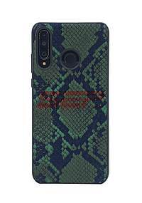 Accesorii GSM - Toc TPU Leather Snake: Toc TPU Leather Snake Huawei P40 Lite 5G / nova 7 SE Green