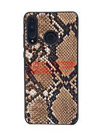 Accesorii GSM - Toc TPU Leather Snake: Toc TPU Leather Snake Samsung Galaxy A30s Brown